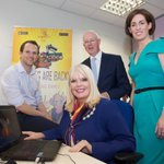 Minister @mitchelloconnor helping out with finishing touches to brand new Biker Mice game in Galway #irishgamedev https://t.co/TJS3cSO1OO