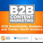 2016 B2B Content #Marketing Benchmarks, Budgets and Trends Report https://t.co/nSURok1xMc #SocialMedia https://t.co/bdFuh91SaJ