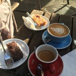 Now on to @200DegreesCafe for the best coffee in #Nottingham - cakes are both for @TANYAMMORGAN 😉 https://t.co/EPgqJPvSNL