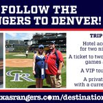 Dont miss the last Rangers Destinations trip for 2016 & follow the team to COL, Aug. 8-9✈️: https://t.co/HUFihLaRLV https://t.co/lB0CXXDkQU
