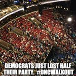1,000+ delegates walked out of the #DemConvention to protest the corruption/fraud in the DNC. #DemsInPhilly #DNCleak https://t.co/X3WdgyFanq