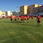 Primera toma de contacto de #Osasuna sobre el verde.  En algo más de una hora, comienza el partido. 👏  #SATvOSA https://t.co/O11aNtmlDP