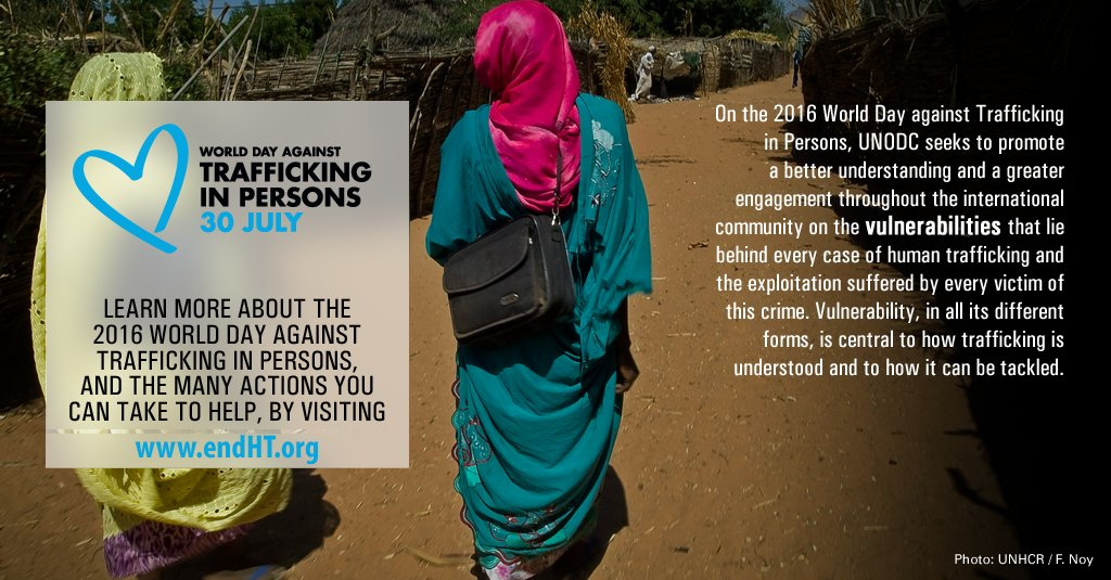 RT @UN: How are people vulnerable to HumanTrafficking? @UNODC explains: