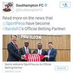Sportpesa are taking over @SouthamptonFC https://t.co/4tBIt3sK4k