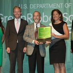 The office team accepted the U.S. Dept of Ed Green Ribbon Schools Post-Secondary Award in Washington, DC last week! https://t.co/O2yGNIoN91