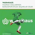 Hazırlık maçlarında Bursasporumuza başarılar dileriz.  @warmhaus https://t.co/8M1Be3fqQv