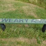 Clifftop bench above #CaytonSands between #Scarborough and #Filey on the @ClevelandWayNT https://t.co/32Fmb4mGi5