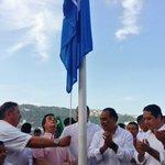 Oficial el izamiento de bandera #BlueFlag en Plaza Canada Icacos II #Acapulco https://t.co/FtisGLGVw5
