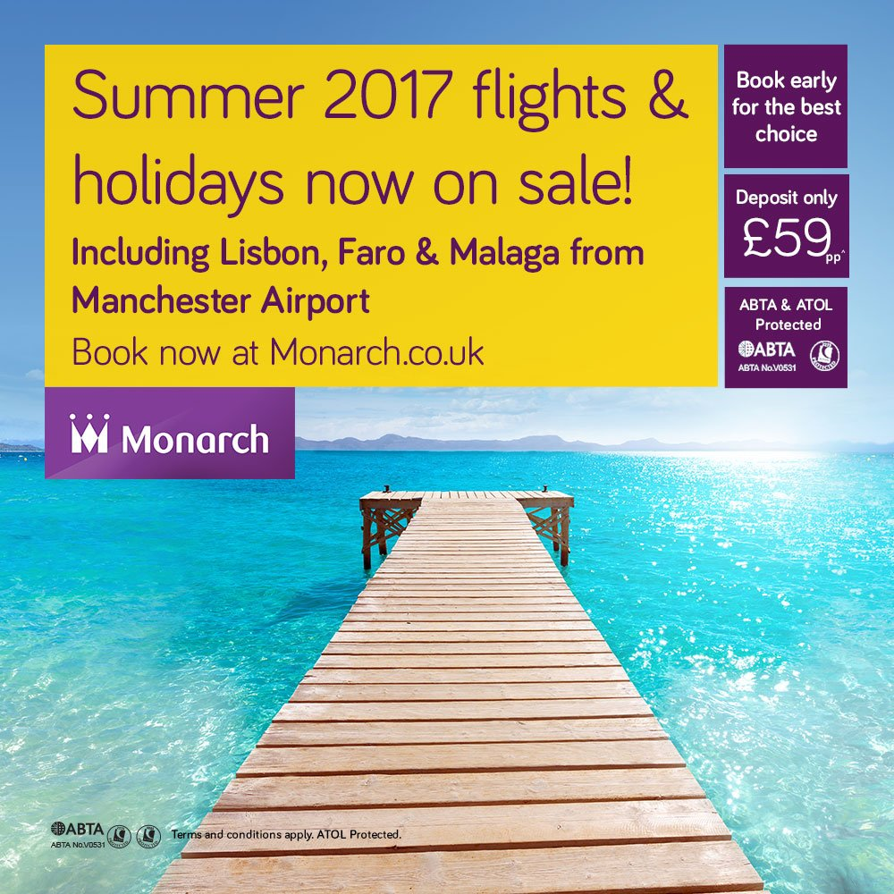 Summer 2017 flights and holidays on sale now from @manairport -