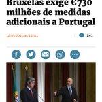 """há 2 meses era isto. """"bruxelas exige medidas de 730 milhões"""". se agora """"sugere"""" 450, vai no bom caminho. a comissão. https://t.co/3TxwcQexdy"""