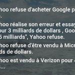 Si parfois tu prends de mauvaises décisions, rassure toi : pense à Yahoo... https://t.co/RSBXNvd1xO
