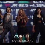 The music video of Worth It by Fifth Harmony just reached an astounding 1 BILLION views on VEVO. https://t.co/B3ZmUMRM8p