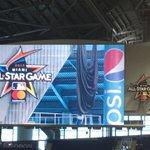 The unveiling of the 2017 #AllStarGame logo. #Marlins Park https://t.co/HpNvNARz2D
