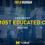 The most educated city in America? Ann Arbor. #GoBlue » https://t.co/LQwoORVEaX (via @wallethub) https://t.co/gsDXFREviK