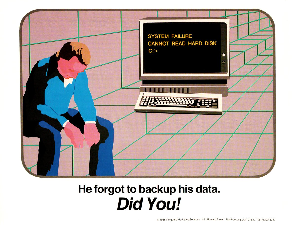 Don't be like him, make sure your backup strategy is in place. Best practices here: https://t.co/vMHHa2bZv3 https://t.co/IF4mtsCGjj