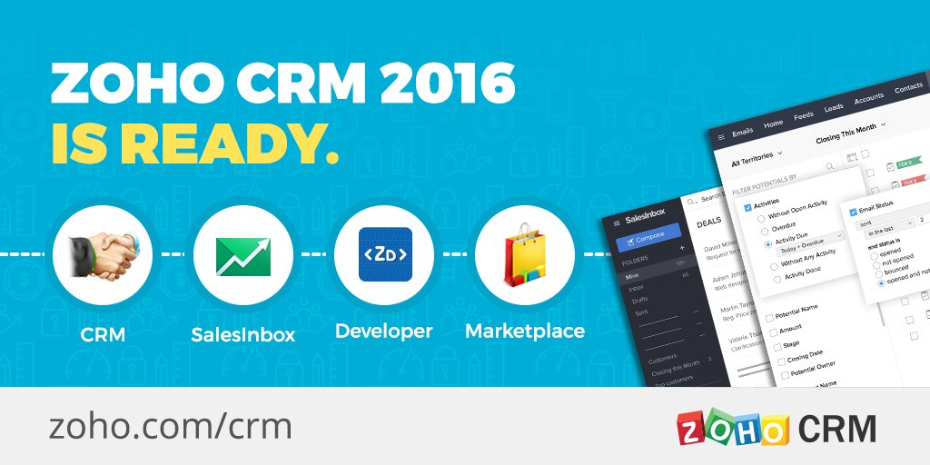 Our biggest release ever is here. Are you ready for Zoho CRM 2016? #ReadyToSell https://t.co/NI1k8DVLu9 https://t.co/kLr3ZMlzcH