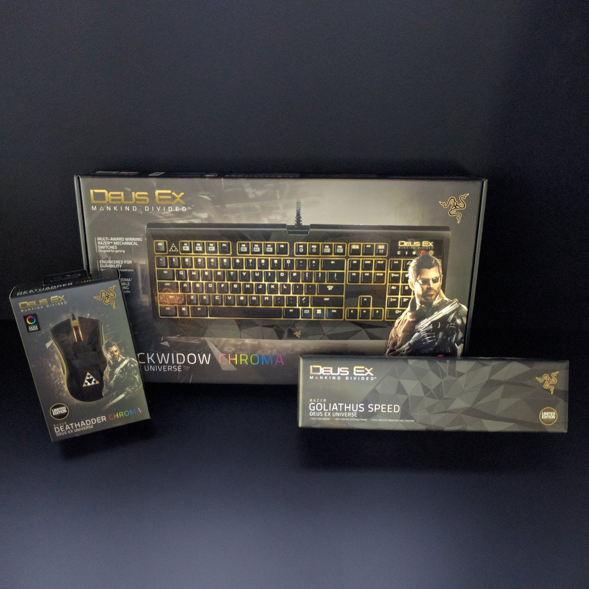 @DeusEx Mankind Divided Limited Edition hardware available now at #RazerStoreSF. Learn more: https://t.co/3Xp4daGjed https://t.co/p5pPVtTMRJ