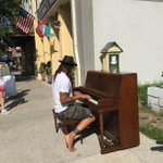 Michael Franti warming up on our new Street Piano before the show tonight at the Saenger. #somobile https://t.co/royMizvO1H