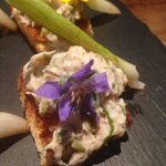 Superb textures and flavours to this smoked mackerel canapé that was well presented at @SinatrasNottm @NottsTweetUp https://t.co/o3hovehLwG