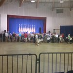 People are starting to gather for Pence campaign rally at the Waukesha Expo Center. @fox6now https://t.co/mHdIzOQ4AN