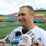 Mitchell Gale starts at QB in MTL. C Aaron Picton likely to get 1st pro start. His fave Rider was @GeneMakowsky https://t.co/oPqrE71guW