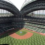 Awesome view from above the scoreboard! #Brewers https://t.co/IXfdyZwnsA