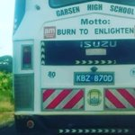When your school Motto gives you the Validation you need to justify your wrong doing #BurningCrisis https://t.co/hujvoqnJni