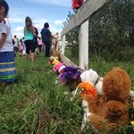 Flowers & teddy bears align the cemetery for the children that passed away at the Regina Indian Industrial School https://t.co/egwnaSJ5Lk
