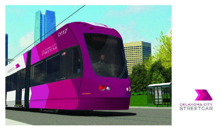 Oh man. @OKCStreetcar brand unveiling certainly didn't disappoint. We love it, you guys! Bright, modern...into it. https://t.co/VqXIkF73FO