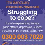 The Sanctuary is available 24 hours a day, 7 days a week - 0300 003 7029 #Manchester #talkingmentalhealth https://t.co/4zfuoWEct2