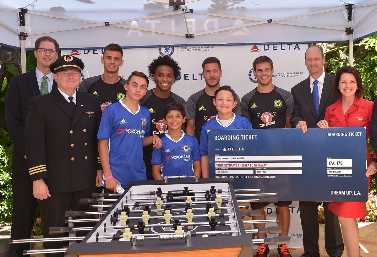 .@Delta & @ChelseaFC team up to surprise young football fans in LA. | Delta News Hub