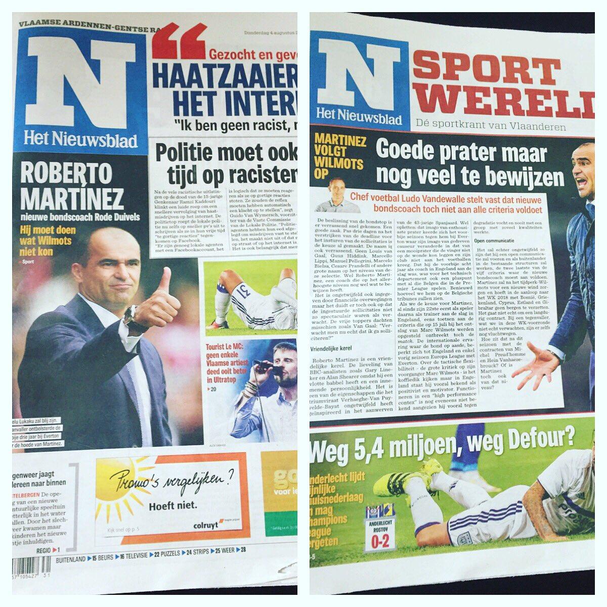 1 dag voor de start van de OLYMPISCHE SPELEN en de kranten zien er zo uit....