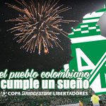 Hoy Atlético Nacional deja en alto el nombre de Colombia: Somos campeones continentales. #SueñoCumplido https://t.co/iDTxHkbzrK