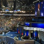 """Yes, we can! Yes, we can...!"" POTUS back in the house! #DemsInPhilly #dems2016 https://t.co/DkaCN41vvL"