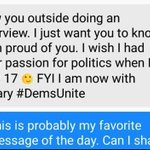 Message our own youngest delegate, Rachel Gonzales, from a Bernie delegate: https://t.co/r0UCSJ5H1D