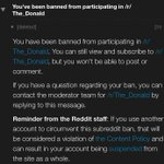 I asked @realDonaldTrump on his AMA why he wont share his tax returns...  I got immediately banned. https://t.co/LhmDKNvFzj