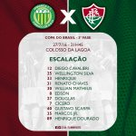 Tricolor escalado para enfrentar o Ypiranga pela Copa do Brasil! #SomosFluminense #PraCimaFluzão #TimeDeGuerreiros https://t.co/zP7cbti377