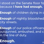 We have had #enough of the unrelenting gun violence in America. Its time for us to fight back, together. #ImWithHer https://t.co/e8Yqfdl5Lm