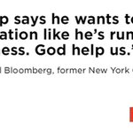 .@MikeBloomberg on Donald Trump at #DemsInPhilly https://t.co/fwrve650Rs