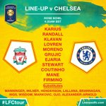 The #LFC starting line-up and substitutes to face @ChelseaFC in full https://t.co/ha4a7Lb4O4