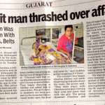 Poor KHAM theory guys cant go and meet this Dalit Man.. 15 Muslim community members thrashed him over affair https://t.co/1SQQ1pRMAY