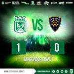 Marcador final en el Atanasio, Atlético Nacional 1- 0 Independiente del Valle https://t.co/yL6AfbJlcY