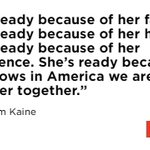 VP nominee @TimKaine tells #DemsInPhilly crowd Hillary Clinton is ready to be president. https://t.co/4i5CTyElJ2 https://t.co/w6An9NPglr