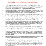 8 policies from Jeremy Corbyn to tackle Mental Health, a policy area Jeremy Hunt refuses to give adequate attention https://t.co/CPe0sEaKqS