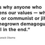 """WATCH LIVE: Obama on Trump: """"Homegrown demagogues will always fail in the end"""" https://t.co/fuVTdEOCEX https://t.co/2NM4yEQ0Xr"""