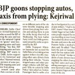 BJP Sponsored Auto strike, drivers threatened by goons of BJP - @ArvindKejriwal 17 Auto unions call off the strike https://t.co/hgWQvuQvOU