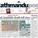 This is the front page of todays Kathmandu Post. Read the stories at https://t.co/jzuv5SOZdX https://t.co/pBUB7YL35y