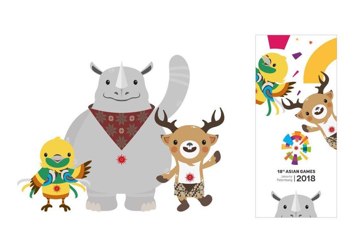 Ciluk baaaa! Maskot resmi Asian Games 2018 berpose bareng. https://t.co/eeHVL5Q6Wu