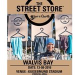 Please share. The Street Store Walvis Bay will be on the 13th of August. Contact @ShaniceShozi (heading Walvis Bay) https://t.co/VyQDioX8uL