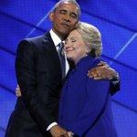 Barack Obama endorses Hillary Clinton. Look at them! https://t.co/irM99JA4uJ https://t.co/5YYyyIqYwY